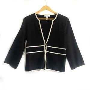 White House Black Market Silk Cardigan - Size L